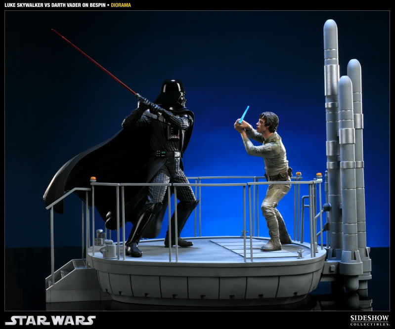 Sideshow - Luke Skywalker VS Darth Vader on Bespin Diorama 200050_press02
