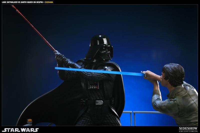 Sideshow - Luke Skywalker VS Darth Vader on Bespin Diorama 200050_press04