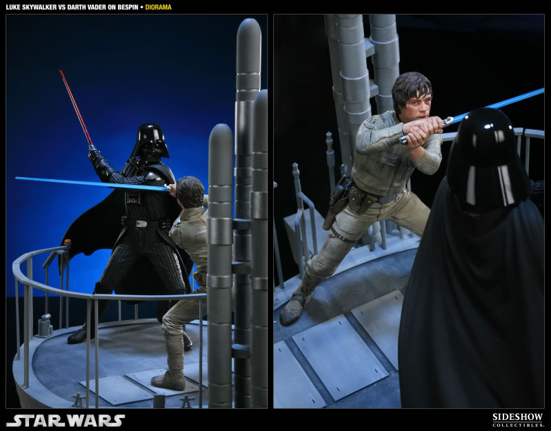 Sideshow - Luke Skywalker VS Darth Vader on Bespin Diorama 200050_press05