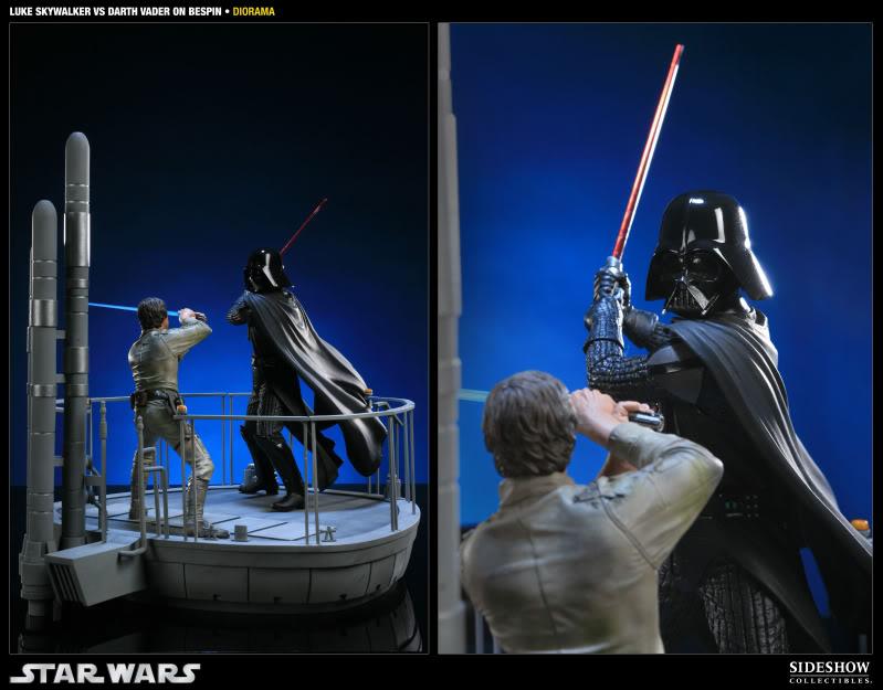 Sideshow - Luke Skywalker VS Darth Vader on Bespin Diorama 200050_press06