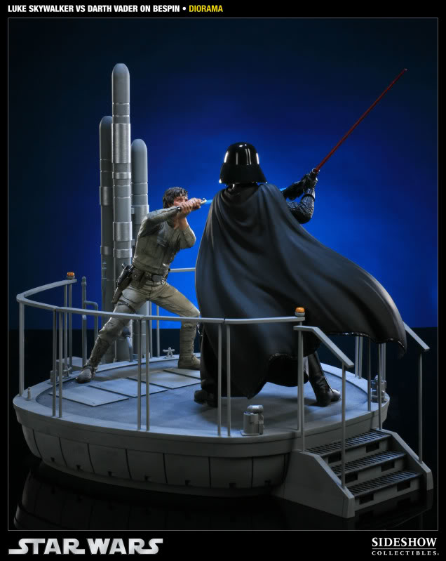 Sideshow - Luke Skywalker VS Darth Vader on Bespin Diorama 200050_press07