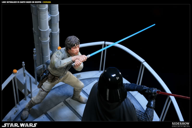 Sideshow - Luke Skywalker VS Darth Vader on Bespin Diorama 200050_press08