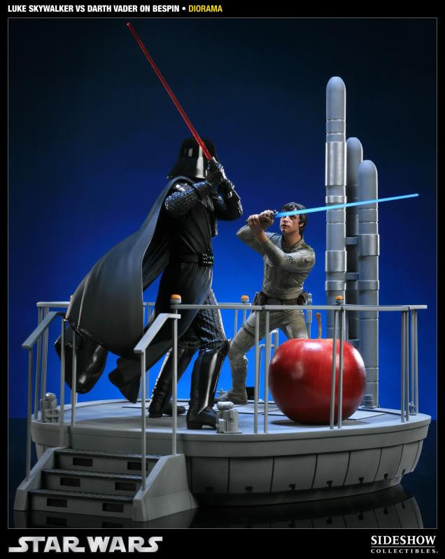 Sideshow - Luke Skywalker VS Darth Vader on Bespin Diorama 200050_press091