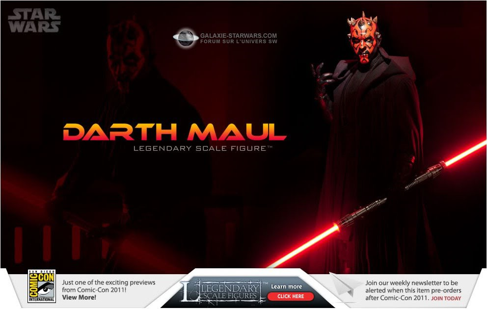 Sideshow - Darth Maul - Legendary Scale Figure  Maul