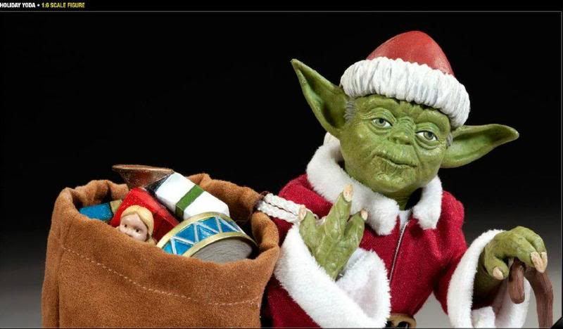 Sideshow -Yoda (Holiday Version) 12 inch Figure Santayoda