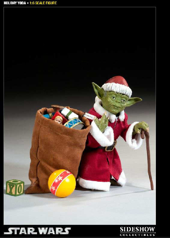 Sideshow -Yoda (Holiday Version) 12 inch Figure Syoda1