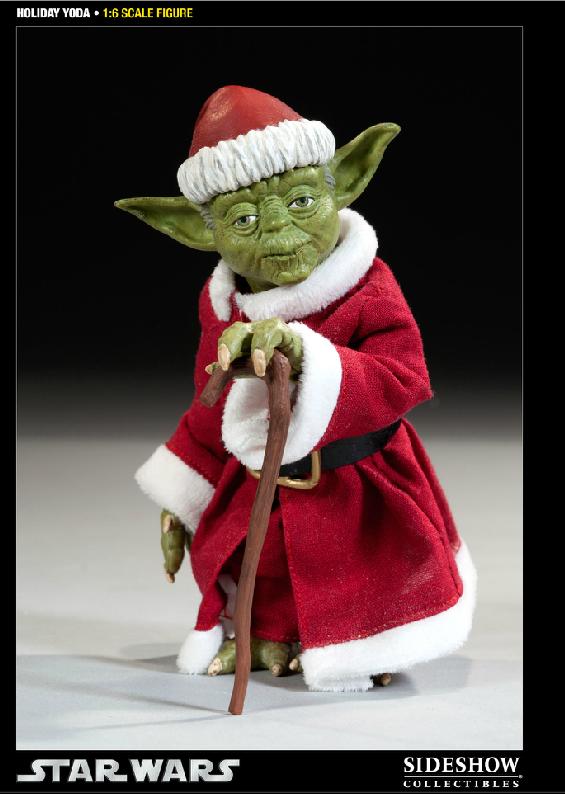 Sideshow -Yoda (Holiday Version) 12 inch Figure Syoda2