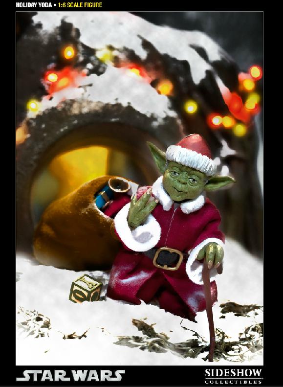 Sideshow -Yoda (Holiday Version) 12 inch Figure Syoda3