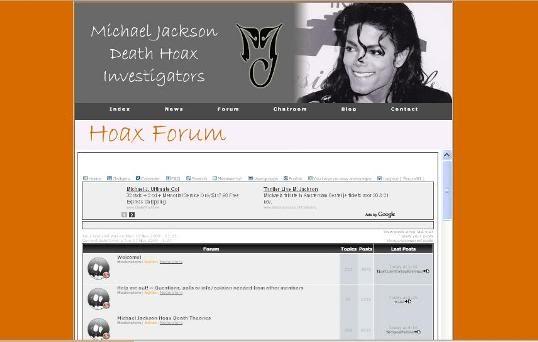 Michael Jackson Hoax Death Investigators NEW WEBSITE! Welcometonewwebsite