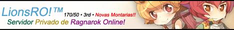 LionsRO!™ Seu Servidor Privado de Ragnarok Online Banner-1