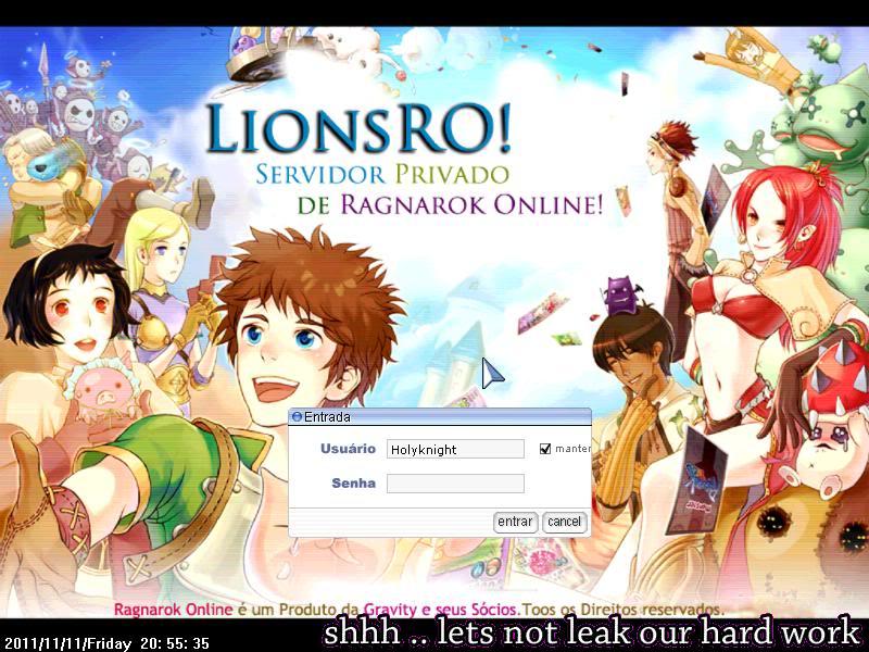 LionsRO!™ Seu Servidor Privado de Ragnarok Online ScreenLionsRO001-2