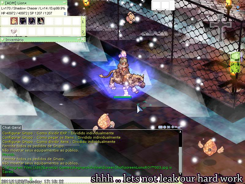 LionsRO!™ Seu Servidor Privado de Ragnarok Online ScreenLionsRO004