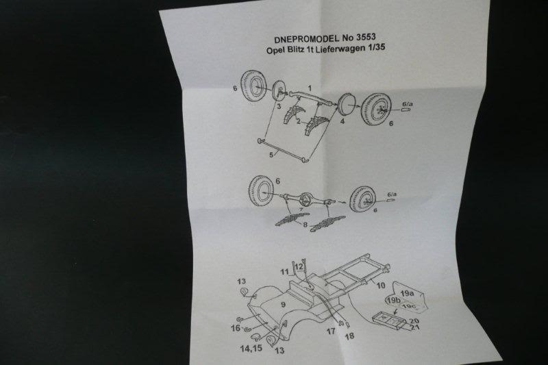 opel 1 ton - Opel Blitz 1t Lieferwagen Dnepromodel Dnepromodel-01