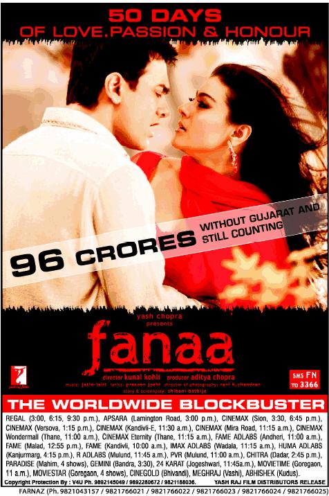 Fanaa_2006 Fanaa_50days