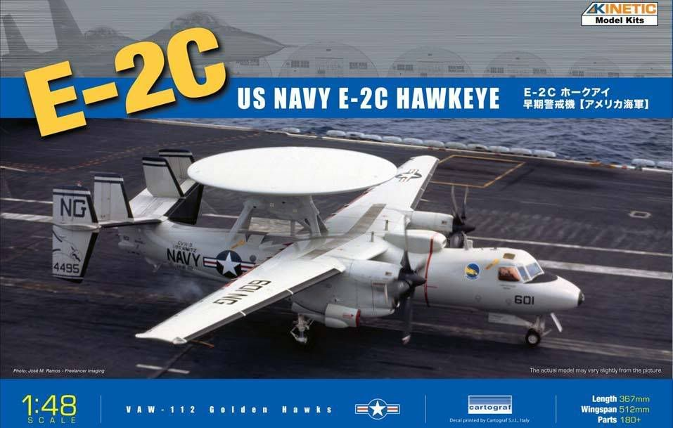 Kinetic Models 1/48th Scale E-2C Hawkeye KM48013