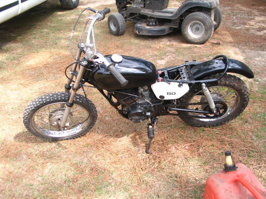 yamaha mx80 project $400 or trade for firearms or archery. Mxrunning004