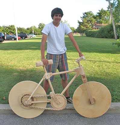 (pic) sepeda kayu Bike-wood