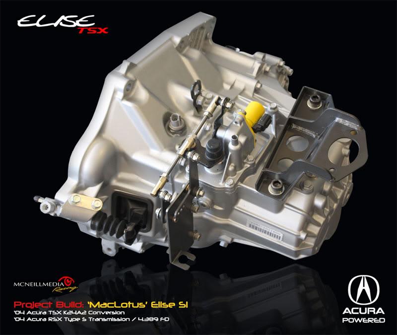 Lotus Elise S1 Conversion: Acura TSX K24  ShiftLinkage01sm