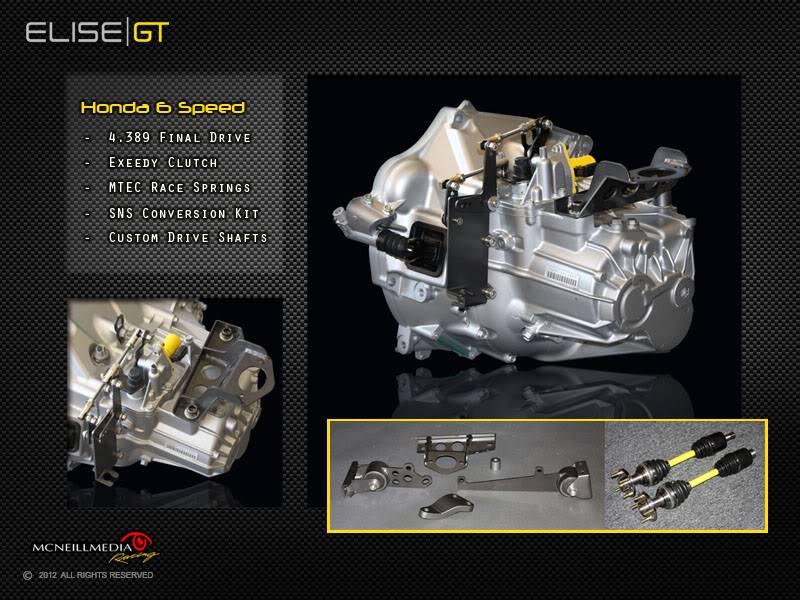 Project Build: Elise GT Widebody 004Transmission