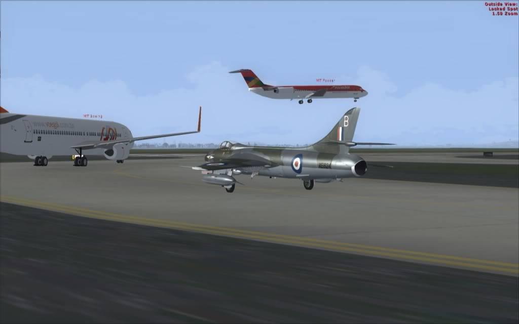 [FSX] Hawker Hunter seguindo o Tráfego AI -2009-sep-13-001