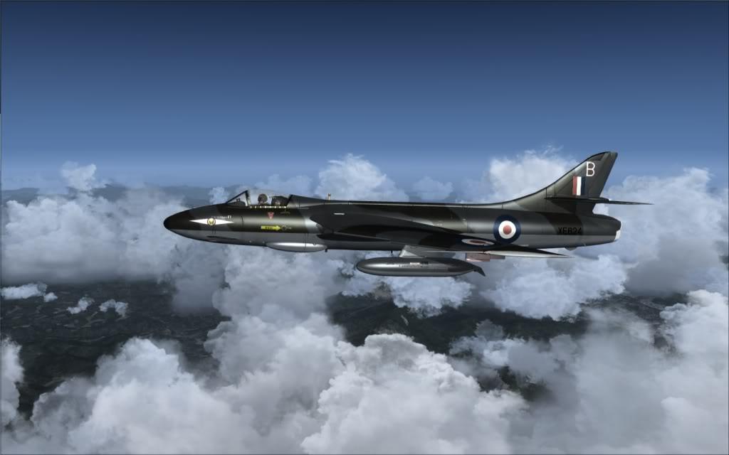 [FSX] Hawker Hunter seguindo o Tráfego AI -2009-sep-13-002