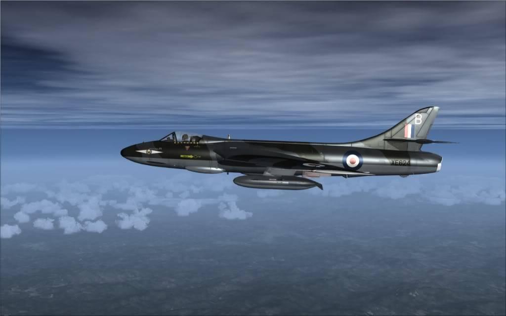 [FSX] Hawker Hunter seguindo o Tráfego AI -2009-sep-13-004