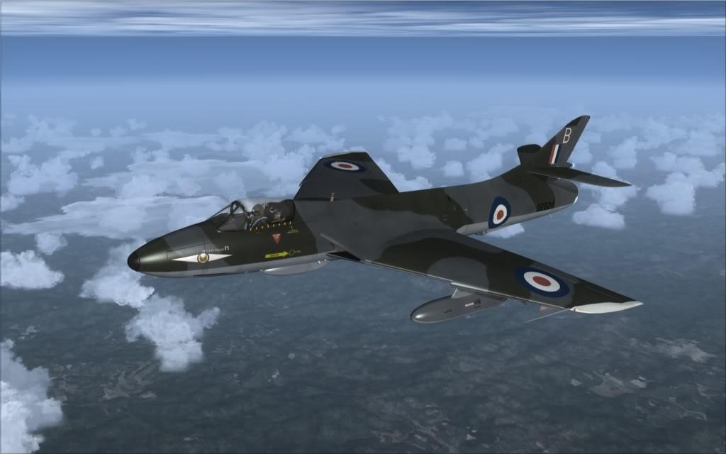 [FSX] Hawker Hunter seguindo o Tráfego AI -2009-sep-13-005