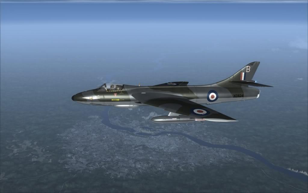[FSX] Hawker Hunter seguindo o Tráfego AI -2009-sep-13-006