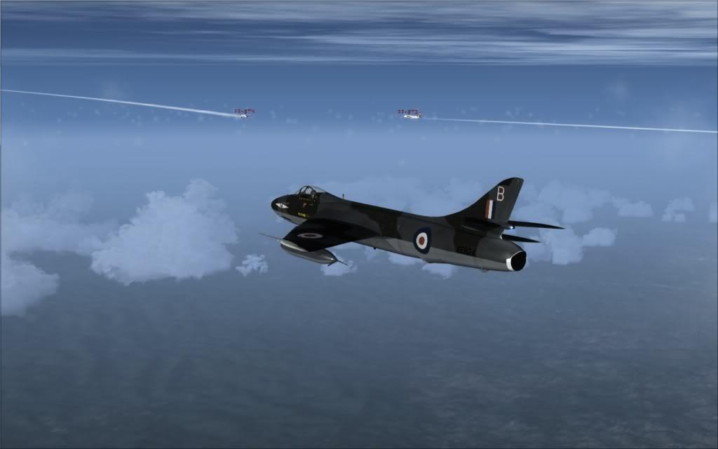 Tráfego - [FSX] Hawker Hunter seguindo o Tráfego AI -2009-sep-13-014