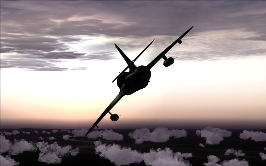 [FSX] Hawker Hunter seguindo o Tráfego AI LSGSLSGG-2009-sep-13-019