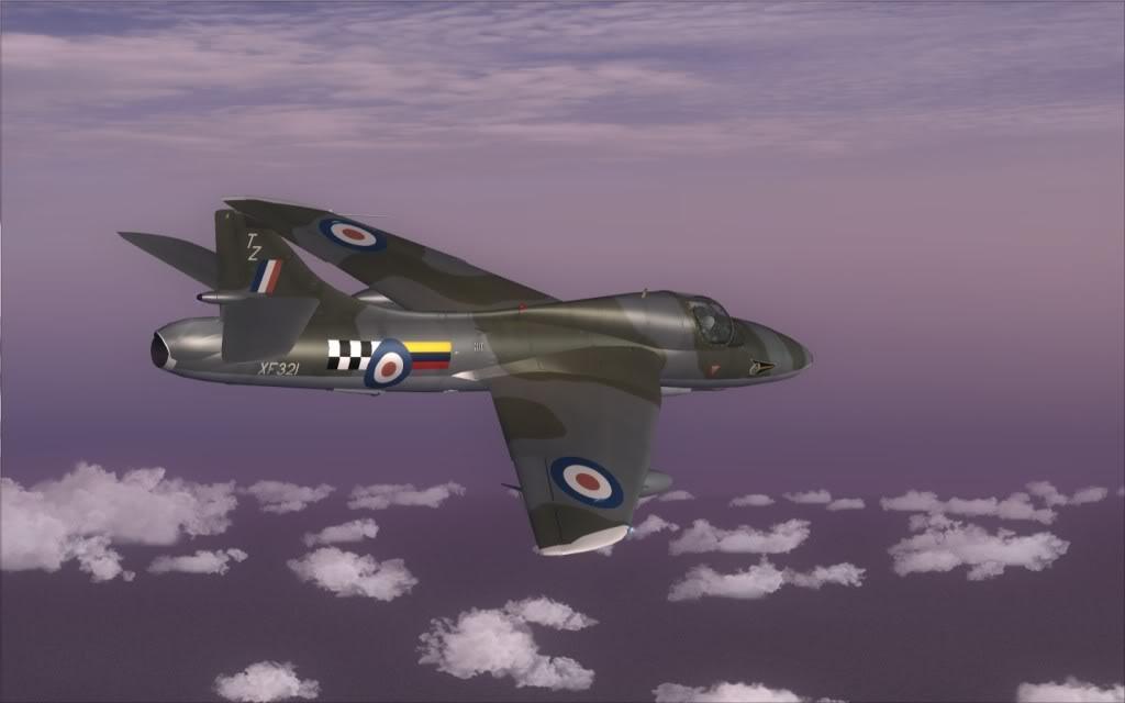 [FSX] Hawker Hunter seguindo o Tráfego AI LSGSLSGG-2009-sep-13-020