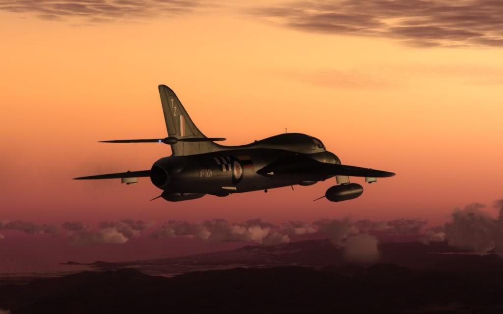 [FSX] Hawker Hunter seguindo o Tráfego AI LSGSLSGG-2009-sep-13-22