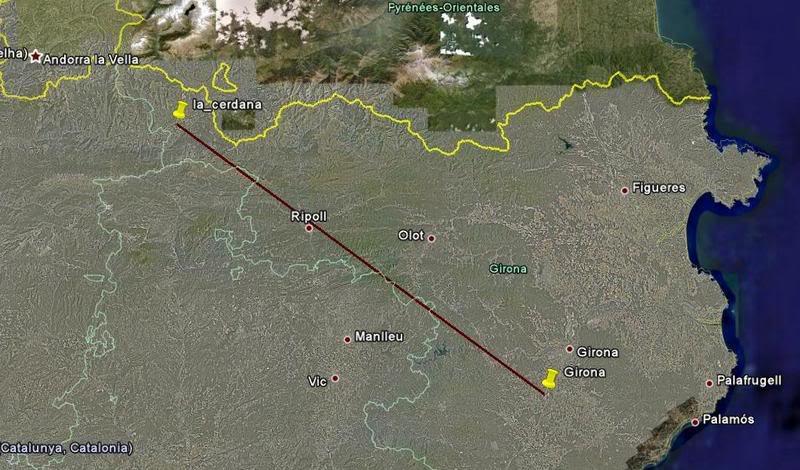 agora virou um tour - voando nos Pirineus - de Girona para La Cerdana - Cirrus EagleSoft Screenshot95