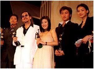 Tạ Đình Phong tại lễ trao giải Kim Tượng LHP Hongkong lần thứ 18 (25/4/1999) Kimtuong06