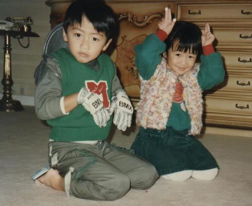Ảnh thơ ấu của anh em Tạ Đình Phong Nicjen01