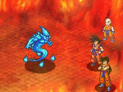 Dragon Ball-Todos los videojuegos Combat_flamme_du_four