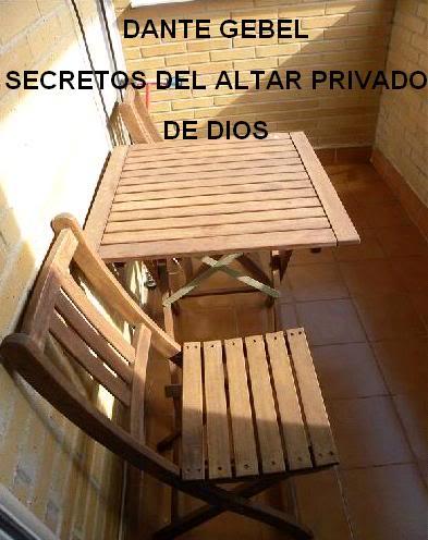 secrecto del altar privado de DIOS Altar