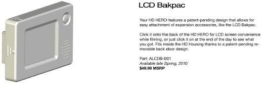 [New] Caméra GoPro Rc / Hero - Page 2 LCDBakpac