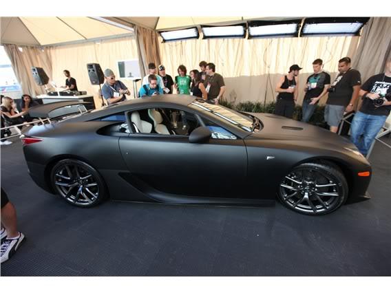 Lexus LFA Matte_black_lexus_lf_a_sema_2009_15-568-426