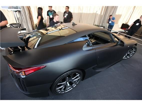 Lexus LFA Matte_black_lexus_lf_a_sema_2009_23-568-426