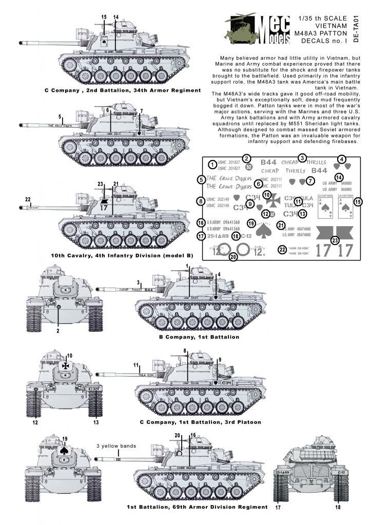 Marking your Vietnam M48A3 M48DE-TA01OVERZICHT_zpscd5b8220