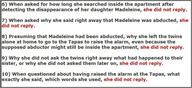 MCMINUTE video: Why didn't Kate McCann answer these 48 QUESTIONS? Images added 6-10b640