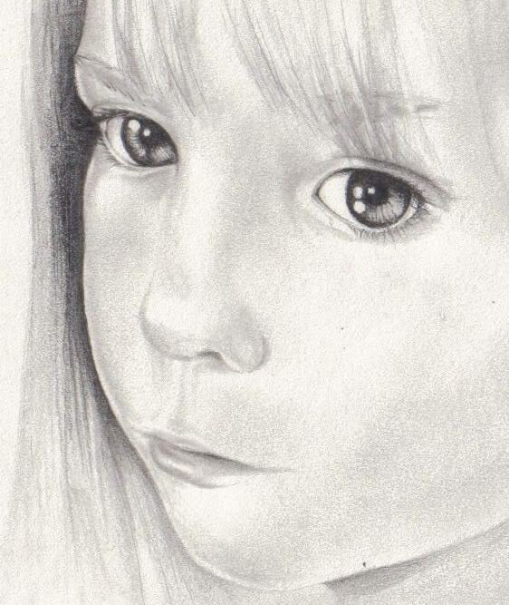 A Portrait Drawing of Madeleine Madeleineface