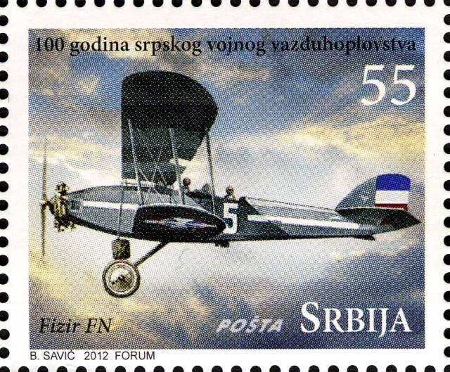 Vazduhoplovi na poštanskim markama RS04112