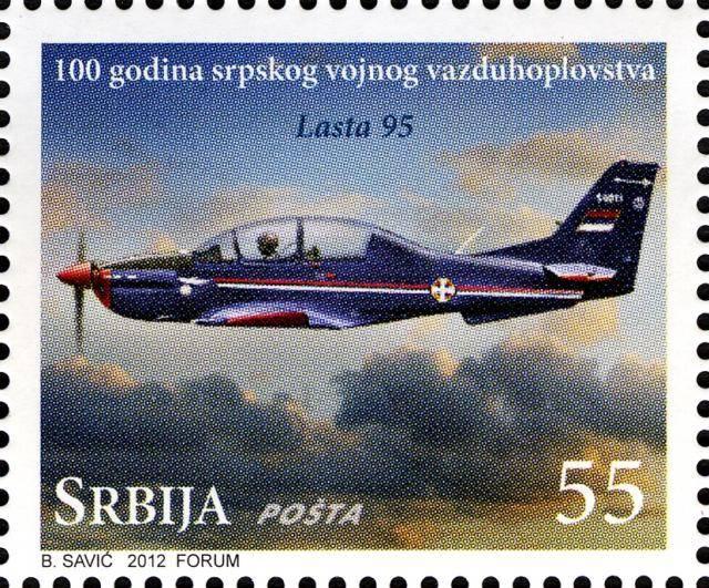 Vazduhoplovi na poštanskim markama RS04512