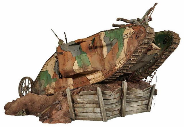 "MK1 ""Male"" British Tank (1/72 Master Box LTD) S3-S04-03-1"