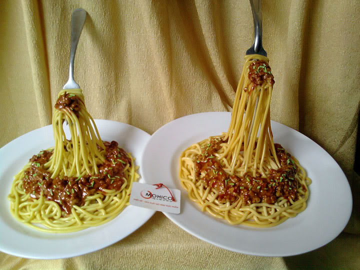 [Ẩm thực] Mô hình đồ ăn giả ở Nhật Bản Spaghetti