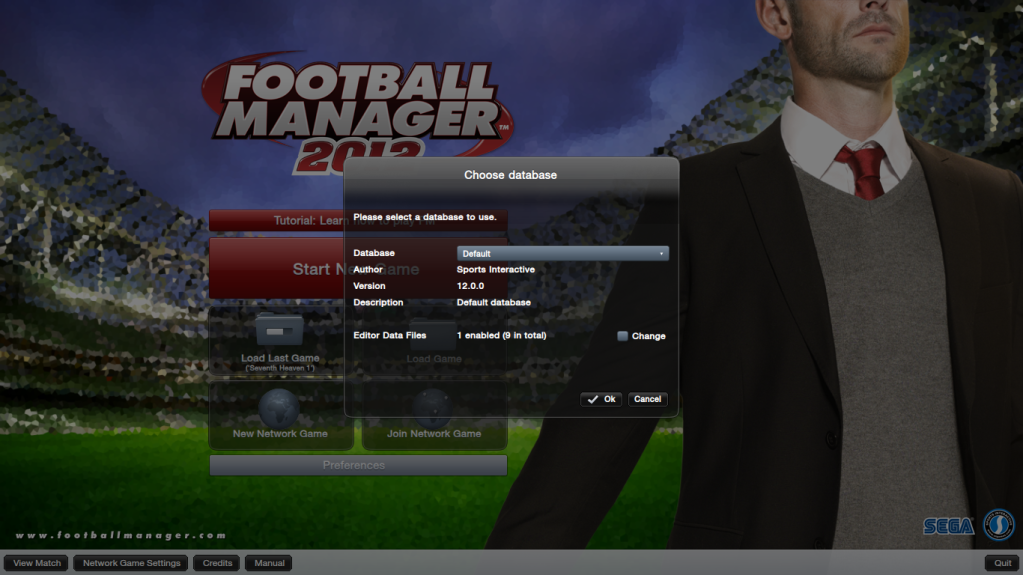 Database - How to play an edited database FootballManager2012MainMenu-2