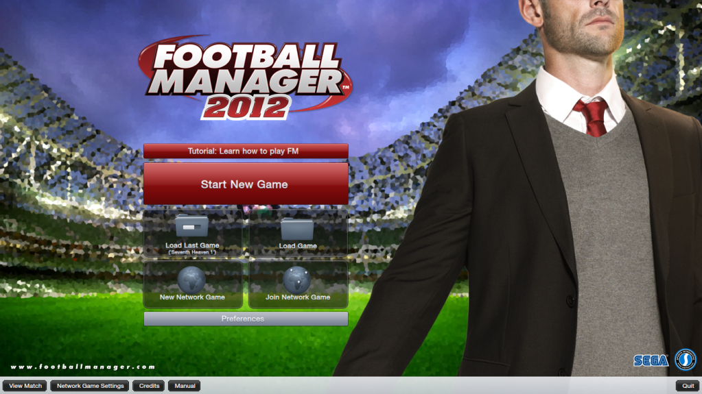 Database - How to play an edited database FootballManager2012MainMenu
