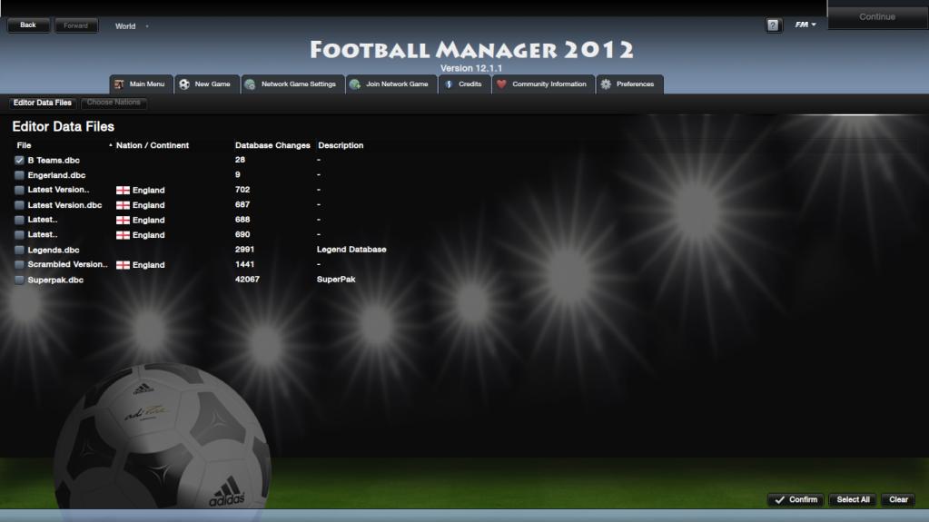 Database - How to play an edited database FootballManager2012NewGame_EditorDataFiles
